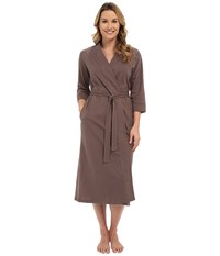 Jockey 48 Cotton Robe Truffle Women's Robe Brown
