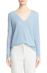 Theory Women's 'Adrianna' V Neck Cashmere Pullover Ocean Blue