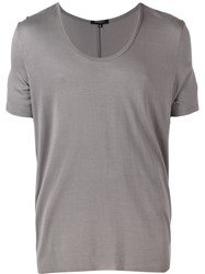 Unconditional Loose Scoop Neck T Shirt Men Rayon Xs Grey
