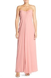 Women's Dessy Collection Sweetheart Neck Strapless Chiffon Gown