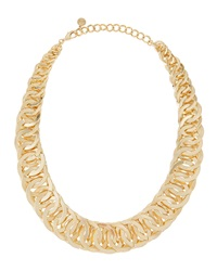 Rj Graziano R.J. Graziano Graduated Chunky Link Necklace Golden