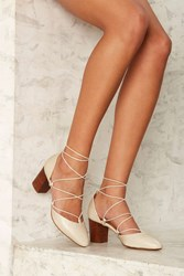 Intentionally Blank Hatter Leather Heel Ivory 70755