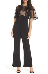 Harlyn Soutache Lace Jumpsuit Black
