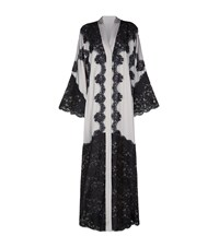 Dolce And Gabbana Panelled Lace Long Sleeve Wrap Gown Female Black