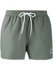 Calvin Klein Logo Swim Shorts Grey