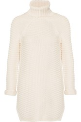Michelle Mason Turtleneck Cable Knit Sweater Cream