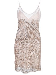 Roberto Cavalli Embroidered Woven Dress Pink And Purple
