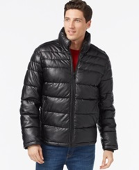 Tommy Hilfiger Faux Leather Quilted Jacket