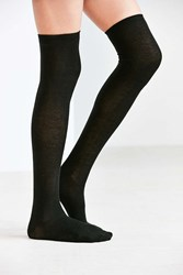 Urban Outfitters Lightweight Over The Knee Sock Black