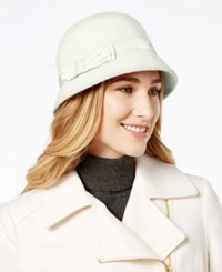August Hats Melton Cloche Ivory