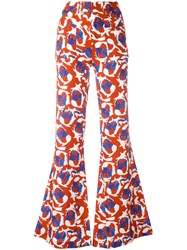 L'autre Chose Printed Flares Red