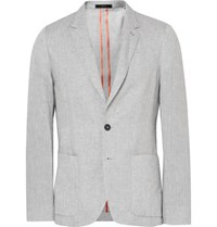 Paul Smith Grey Soho Slim Fit Slub Linen Blazer Light Gray