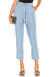 1.State Tie Waist Tapered Leg Pant Blue