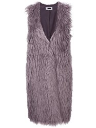 H Beauty And Youth. Faux Fur Gilet Grey