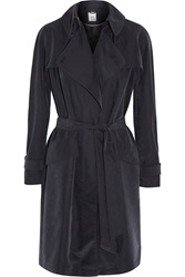 Iris And Ink Adelisa Modal Blend Trench Coat Blue