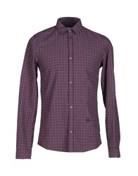 Zadig And Voltaire Shirts Maroon