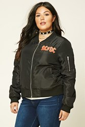 Forever 21 Plus Size Acdc Tour Jacket Black Red