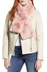 Ted Baker London Faux Fur Pull Through Scarf Light Pink