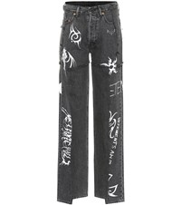 Vetements X Levi's High Rise Wide Leg Jeans Black