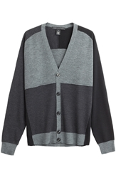 Marc By Marc Jacobs Wool Colorblock Cardigan