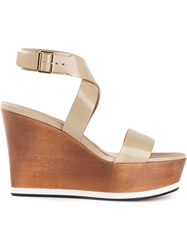 Givenchy Wedge Sandals Nude And Neutrals