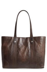 Frye Melissa Leather Shopper Brown Slate