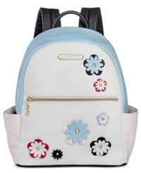 Betsey Johnson Floral Backpack Only At Macy's Blue Cream