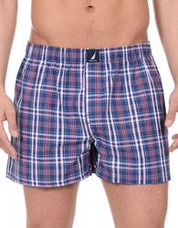 Nautica Patterned Cotton Boxers Navy