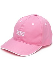 Gcds Embroidered Logo Cap Pink And Purple