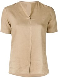 Peter Cohen Round Neck Shirt Brown