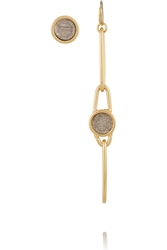 Marc By Marc Jacobs Orbit Gold Tone Resin And Leather Earrings