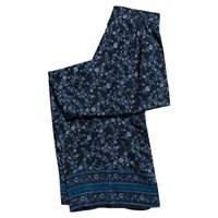 East Virginia Palazzo Silk Trousers Indigo