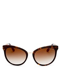 Tom Ford Emma Cat Eye Sunglasses 56Mm Dark Havana Gradient Brown Flash Gold Lens