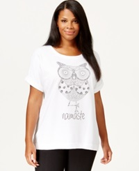 Style And Co. Plus Size Owl Graphic T Shirt Only At Macy's