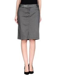 Tru Trussardi Knee Length Skirts Steel Grey