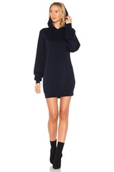 Cotton Citizen The Milan Backless Hoodie Dress Navy