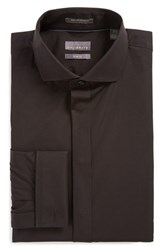 Men's Calibrate Trim Fit Tuxedo Shirt Black