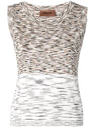 Missoni Knitted Sleeveless Top Neutrals