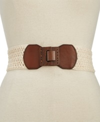 Style And Co. Woven Stretch Belt Natural