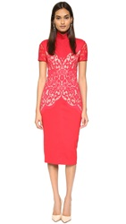 Lover Galaxy Fitted Dress Crimson