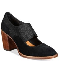 Patricia Nash Agata Block Heel Oxford Pumps Women's Shoes Black