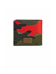 Valentino Pop Camo Print Leather And Canvas Wallet