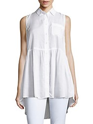 French Connection Sleeveless Hi Lo Tunic Summer White