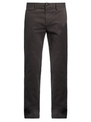Burberry Slim Fit Stretch Cotton Twill Chino Trousers Blue