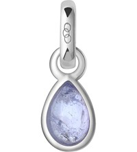 Links Of London December Sterling Silver And Tanzanite Mini Birthstone Charm Blue