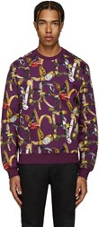 Versace Purple Belts Pullover