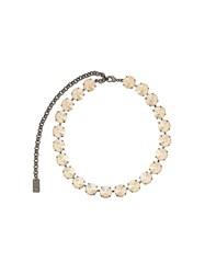 N 21 No21 Crystal Choker Necklace Neutrals