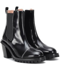 Acne Studios Patent Leather Ankle Boots Black