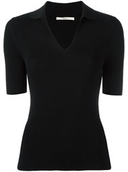 J Brand V Neck T Shirt Black