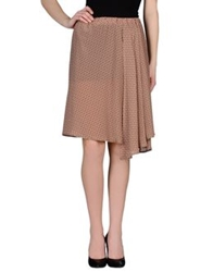 Adele Fado Knee Length Skirts Cocoa